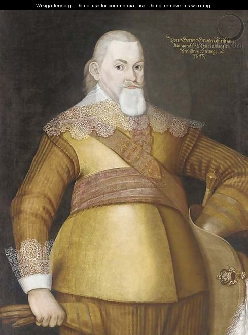 Portrait of a Christian, Margrave of Brandenburg and Duke of Prussia (1581-1655) - German School