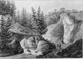 An Alpine River Landscape - German School