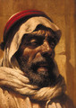 Portrait of a bearded Arab, bust-length, wearing a headdress - German School