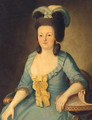 Portrait Of A Lady, Seated Three-Quarter-Length, In A Blue Dress - German School