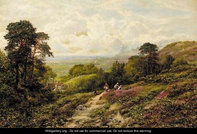 Children playing on a hillside - George William Mote