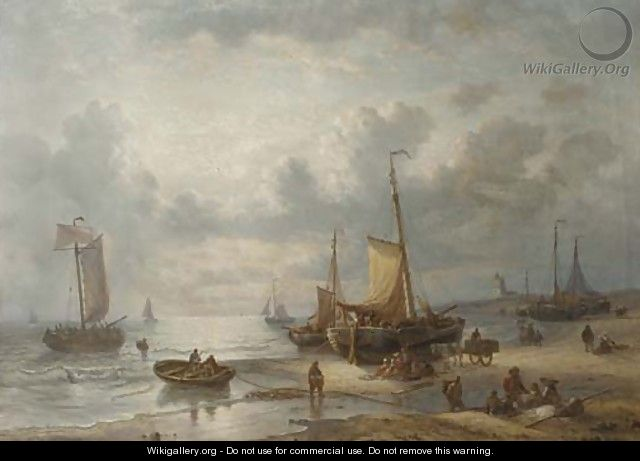 Unloading the catch - George Willem Opdenhoff