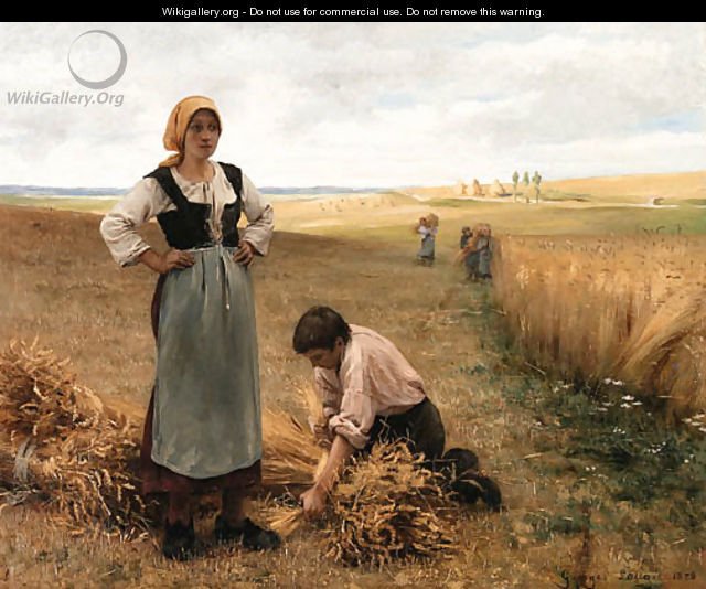 Harvesting the fields - Georges Laugee