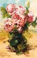 Pink roses in a vase - Georges Jeannin