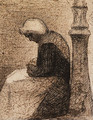 Assise prs d'un rverbre (Woman seated near a Streetlamp) - Georges Seurat