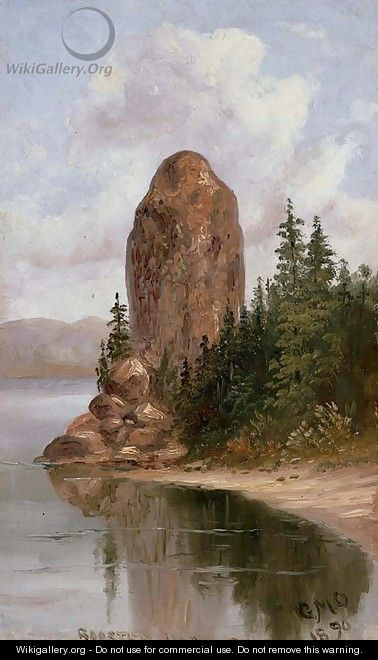 Rooster Rock, Columbia River - George Martin Ottinger