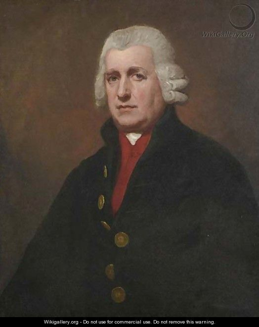 Portrait Of A Gentleman, Believed To Be Nicholas Pearse (1719-1798), Half-Length, In A Blue Coat And Red Waistcoat - George Romney