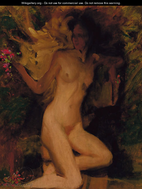 A female nude - George Spencer Watson