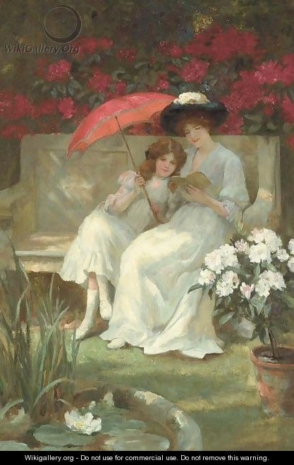 The Red Parasol - Georges Sheridan Knowles