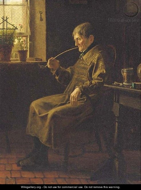 A quiet pipe - Henry Stacy Marks
