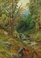 A wooded river landscape - Herbert Moxon Cook