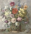 Summer flowers in a vase - Henri Lehmann