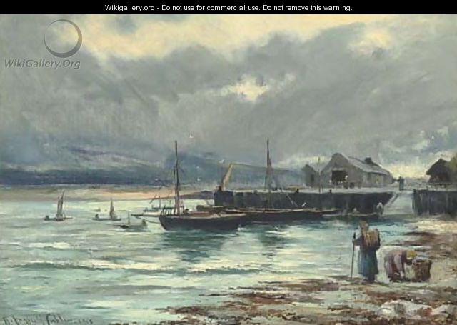 The harbour Barmouth, North Wales - Henry Hadfield Cubley