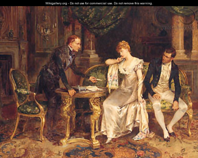 A Difficult Decision - Henry Gillard Glindoni