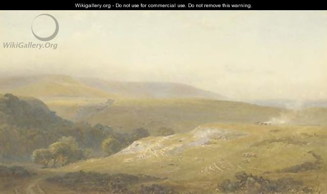 The Downs near Eastbourne - Henry George Hine