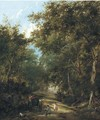 Children filling a water wagon, traditionally identified as a lane near Sevenoaks - Henry John Boddington