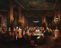Figures playing baccarat in a gaming room - Henry James Pidding