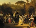 A dance in the campagna - Henry Joseph Fradelle