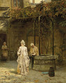 Young lovers interrupted - Henry John Yeend King