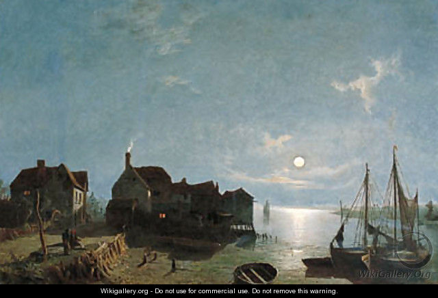 Moonlight - Leigh near Southend - Henry Pether