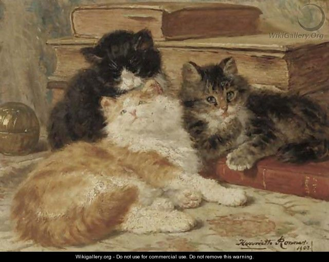 Three of a kind - Henriette Ronner-Knip