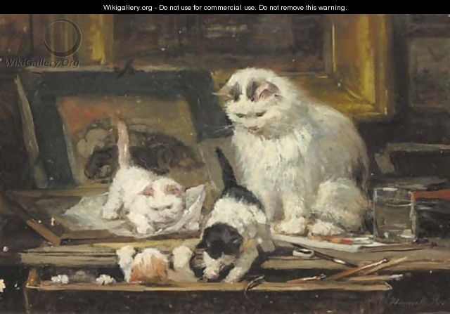 The first drawing lesson - Henriette Ronner-Knip