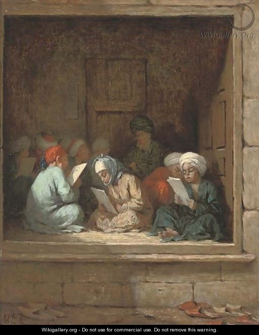 A Turkish schoolroom - Henriette, Hon. R.I. Browne