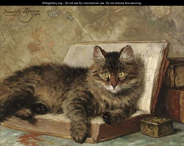 The wise cat - Henriette Ronner-Knip