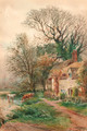 Old cottages at Burpham, Sussex - Henry Charles Fox