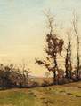 An autumn sunset - Henri-Joseph Harpignies