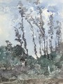 A study of trees - Henri-Joseph Harpignies