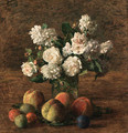 Nature morte roses et fruits - Ignace Henri Jean Fantin-Latour