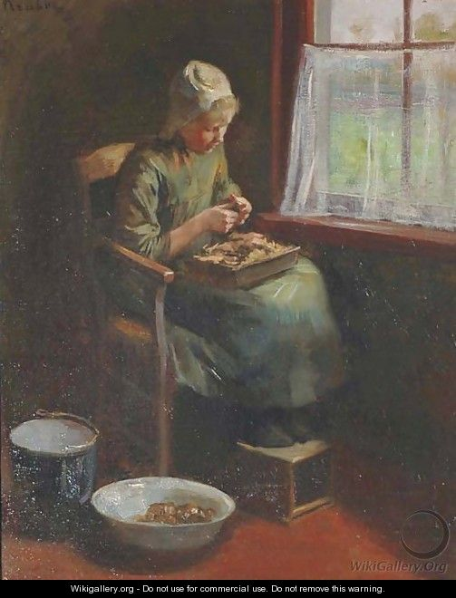 By the window - Hendrik Maarten Krabbe