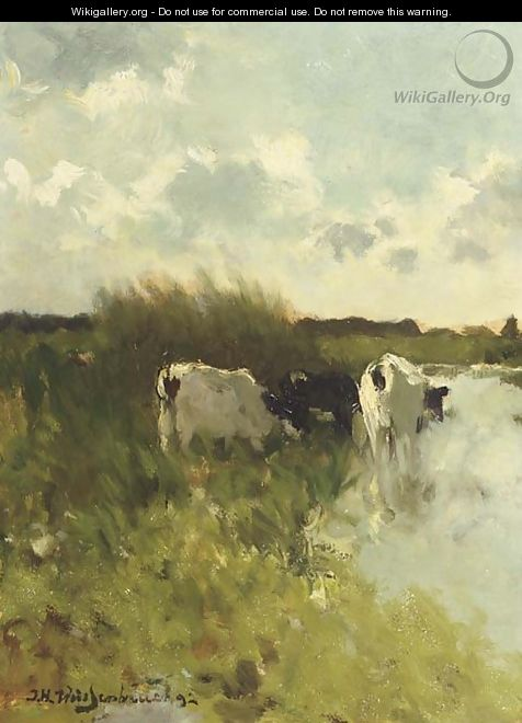 Summer in the polder - Johan Hendrik Weissenbruch