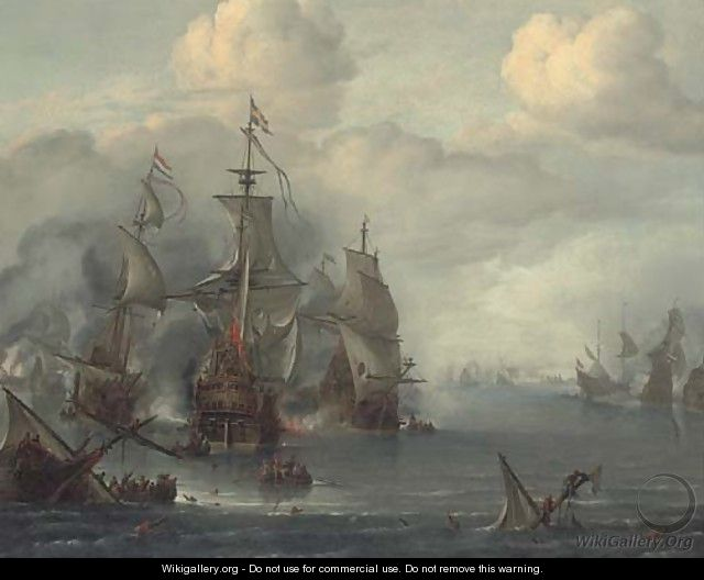 The Battle of The Sound, 29th October, 1650 - Hendrik van Minderhout