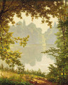 Looking out onto a lake on a summer day - Henri Biva