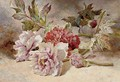 Still life of rununculas and peonies - Helen Cordelia Coleman Angell