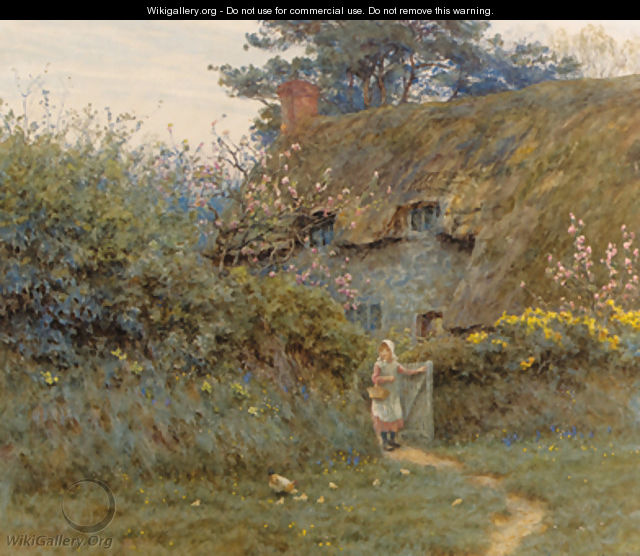 Old Cottage, near Freshwater, Isle of Wight - Helen Mary Elizabeth Allingham, R.W.S.