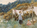 A study for The Clothes Line - Helen Mary Elizabeth Allingham, R.W.S.