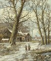 Walking in winter - Hendrik Barend Koekkoek