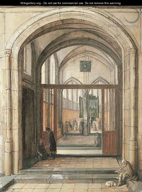 The entrance to a church - Hendrick Van Steenwijck II