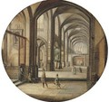 The interior of a cathedral with gentlemen and beggars - Hendrick Van Steenwijck II