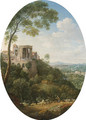 View of the Temple of the Sybil, Tivoli - Hendrik Frans Van Lint