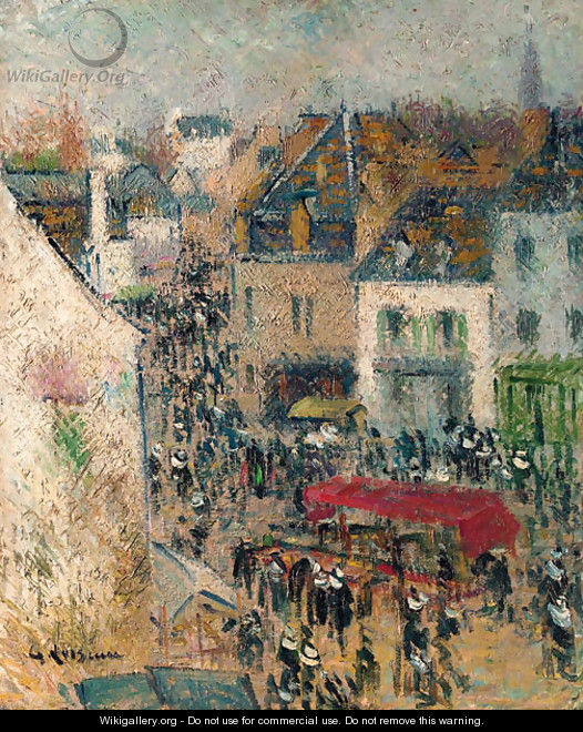 Rue a Pont-Aven, Finistere - Gustave Loiseau