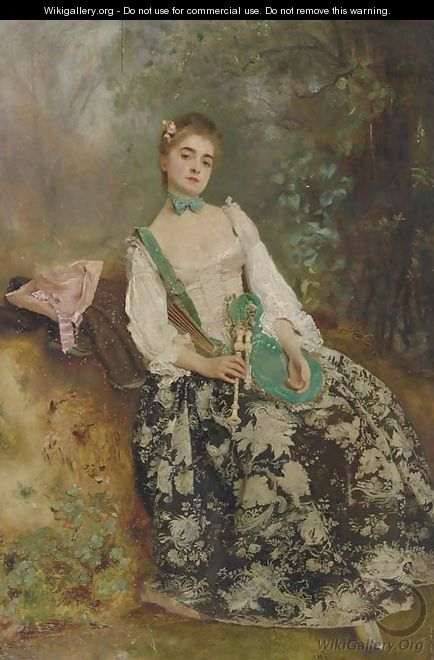 The Elegant Piper - Gustave Jean Jacquet