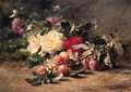 Peonies and Plums - Gustave-Emile Couder