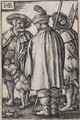Three Soldiers and a Dog - Hans Sebald Beham
