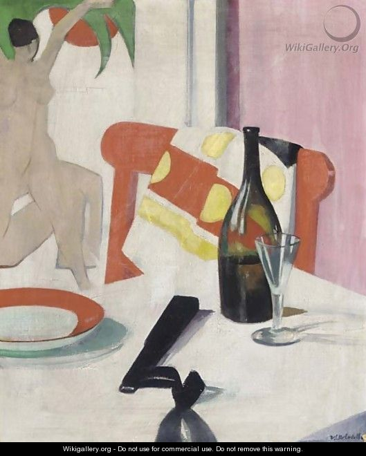 The red chair, circa 1923-1925 - Francis Campbell Boileau Cadell
