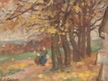 Autumnal landscape study - Francis Campbell Boileau Cadell