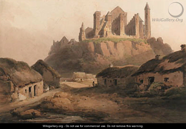 The Rock of Cashel, Tipperary - Francis Nicholson